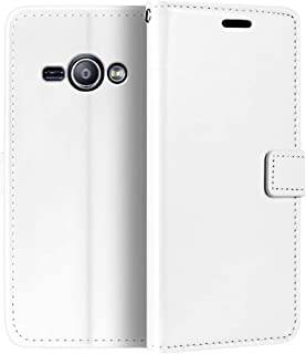 جراب محفظة Samsung Galaxy J1 Ace ، جراب قلاب مغناطيسي من الجلد الصناعي الممتاز مع حامل بطاقات ومسند لهاتف Samsung Galaxy J...