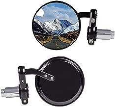 KAWELL Rear View Side Mirror Round Bar End Convex Hawk Eye Motorcycle Mirror for 7/8