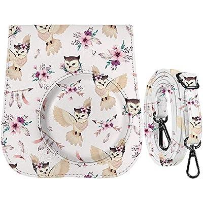Katia Camera Case Bag Compatible for Fujifilm Instax Mini 11/9/ 8+/ 8 Instant Film Camera with Shoulder Strap and Photo Accessories Pocket - Grey Owl