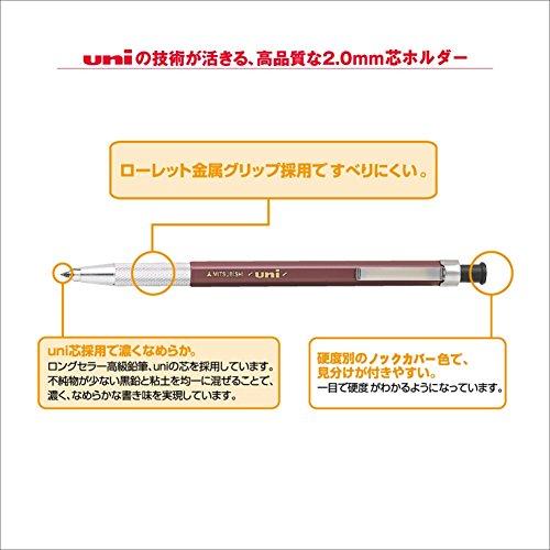 三菱鉛筆シャープペンユニホルダー2.0ノーマーク黒MH500NM