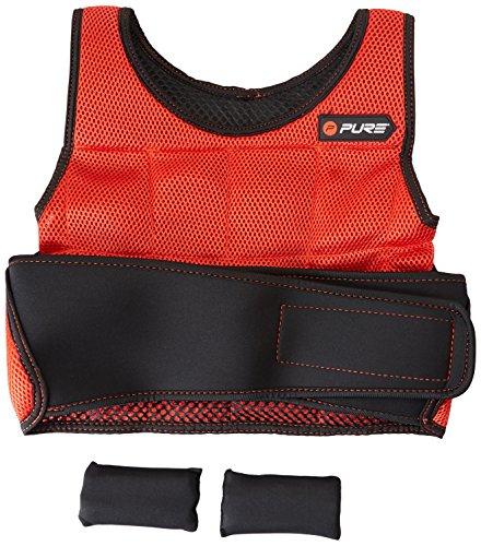 Pure2Improve P2I100140, Gilet con Pesi Unisex-Adulto, Rosso/Nero, Taglia Unica