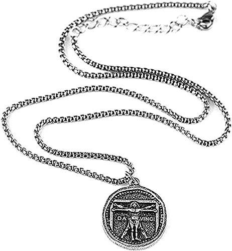 DUEJJH Co.,ltd Collar de Hombre de Vitruvio, Collar de Obra