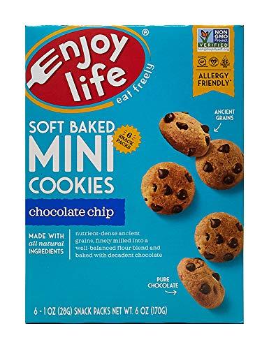 Enjoy Life Soft Baked Mini Chocolate Chip Cookies 6 x 1oz Snack Packs 6 oz