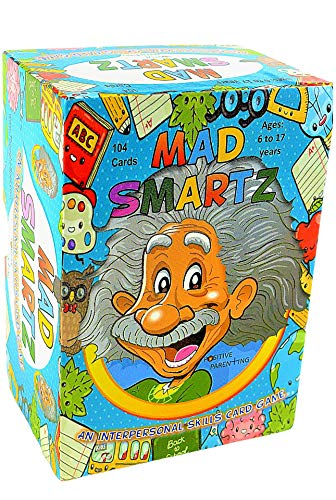 MAD SMARTZ: an Interpersonal Skills Card Game for Anger & Emotion Management, Empathy, and Social Skills; Top Educational Learning Resource for Kids & Adults; Fun for School and Therapy