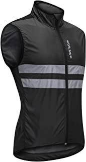 HOMYL Black High Visibility Safety Reflective Bike Cycling Sleeveless Windproof Vest Running Jogging Outdoor Sports Coat Jacket M-XXXL