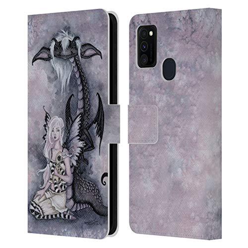 Officiële Amy Brown Evie en de nachtmerrie Folklore Lederen Book Portemonnee Cover Compatibel voor Samsung Galaxy M30s (2019)