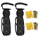 Sumnacon 2本セット 自転車 スタンド 縦 壁掛け フック 縦収納 スタンド 固定式 耐荷重30kgまで (黒)