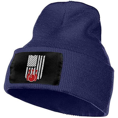 Quintion Robeson Männer Frauen Bowling Amerikanische Flagge Outdoor-Mode Strickmützen Hut Weiche Winter Schädelkappen