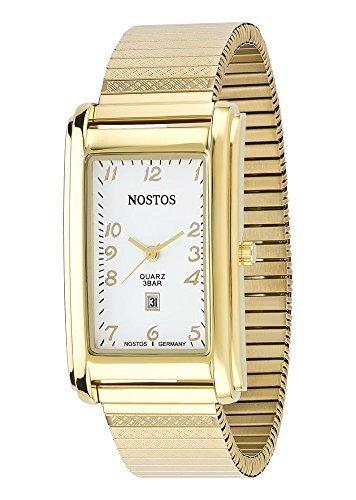 Osco Germany Klassisch-elegante Armbanduhr Herrenuhr Edelstahl-Flexband \'Gold\' NOS06145001