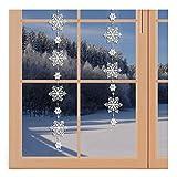 artex deko Girlande/Fensterbild Schnee-Stern Winter-Fensterdekoration aus Echter Plauener Spitze inkl. 2 Saughaken