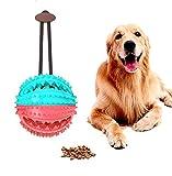 SONAMI Giocattolo Palla per Cane,Giochi per cani,Giochi interattivi per cani,Palla da Masticare per Cani,Palla per Pulito dei Denti di Cane,Sicuri e Non-Tossici(Turchese&Rosso)