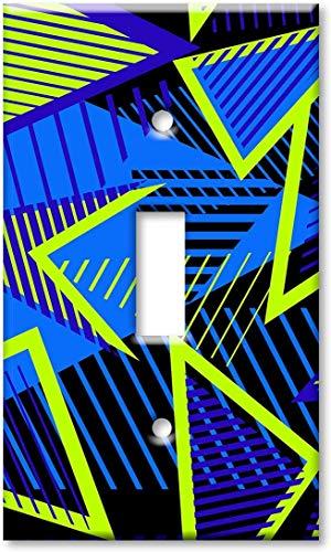 Placa de cubierta del interruptor de luz Interruptor de palanca/placa de pared de una unidad - Retro simétrico