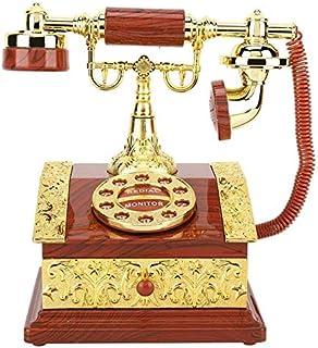 1ピーチボックスレトロダイヤル電話オルゴールジュエリーボックス収納ケースデスクトップ飾りクリスマスプレゼント音符 (Color : YELLOW)