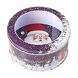 YCXHT Cajas Niños Niños Caja de Almacenamiento BOT Bin Caja Caja de Caramelo Caja de Dulces Decoración para el hogar Decoración Santa Claus,Violeta