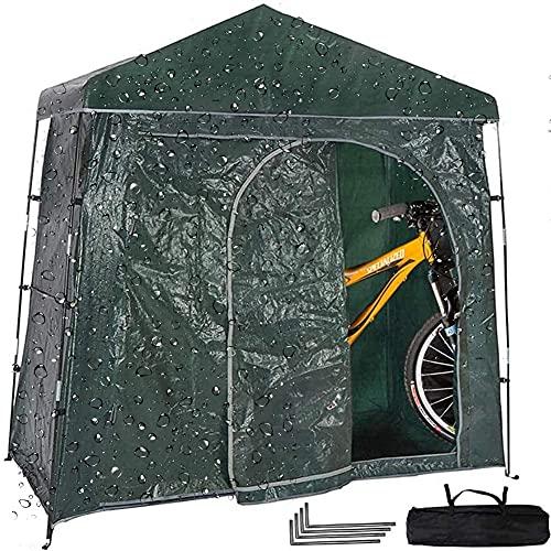 CONSUNDYTT Bike Cover, Carpa para Bicicletas De MontañA Al Aire Libre-Cobertizo VersáTil para Bicicletas Almacenamiento para Dos Bicicletas para Adultos A Prueba De Agua Y con Tratamiento UV