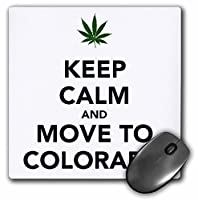 3drose Keep Calm and Move to Colorado - マウスパッド