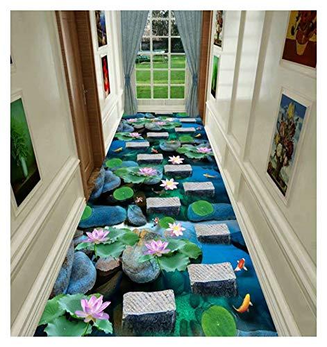 ditan XIAWU 3D Wohnzimmer Teppich Schlafzimmer Gang Bett Eingangstürmatte Kann Geschnitten Werden (Color : A, Size : 120x600cm)