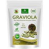 MoriVeda® - Graviola tabletas 120 x 2000mg extracto de fruta 4:1 vegano, producto de calidad (1x120 Tabs)