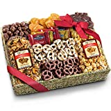 Chocolate Caramel and Crunch Grand Gift Basket for Christmas, Holiday, Snack, Business, Office and Family by Golden State Fruit