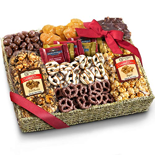 Chocolate Caramel and Crunch Grand Gift Basket for Christmas, Holiday, Snack, Business, Office and Family
