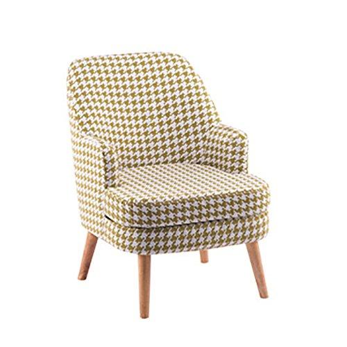 HTZ Sofa Paresseux, Sofa De Loisirs De Tissu Nordique Simple, Sofa De Chambre À Coucher De Petit Appartement De Balcon + (Couleur : Le jaune)