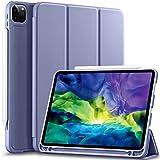 Vobafe Funda Compatible con iPad Pro 11 2020 y 2018, Funda Protectora de TPU con Portalápices para iPad Pro de 11 Pulgadas, Compatible con Segunda Generación Pencil, Protección Completa, Gris Azul