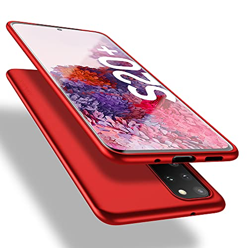 X-level Samsung Galaxy S20 Plus Hülle, [Guardian Serie] Soft Flex Silikon Premium TPU Echtes Handygefühl Handyhülle Schutzhülle für Galaxy S20 Plus 5G Hülle Cover - Rot