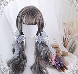 耐熱コスプレウイッグ かつら60cmロングヘア ロリータ風日常原宿風GAL系小顔効果wig cosplay