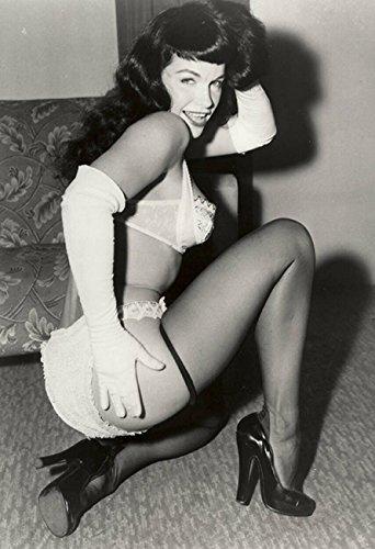 Bettie Page Poster, Vintage-Stil, 13 x 19 cm, 4 Stück