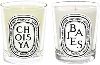 Diptyque Scented Candles Twin Pack Bundle - 2 x 6.5oz (Baies, Choisya) (2 Items)