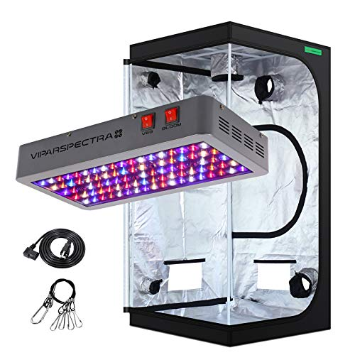 VIPARSPECTRA UL Certified 450W LED Grow Light with 3'x3' Mylar Hydroponic Grow Tent Complete Kit for Indoor Plant Growing