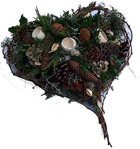 Grabgesteck zum Totensonntag von Flora Trans -Herzenstreue- Trauergesteck Allerheiligen