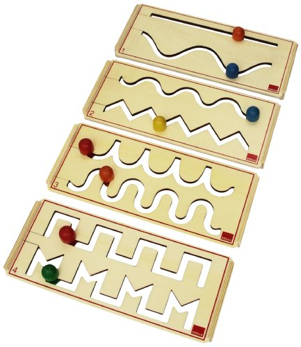Goula - Pre-escritura, set de 4 tableros de madera (Diset 55011) , color/modelo surtido