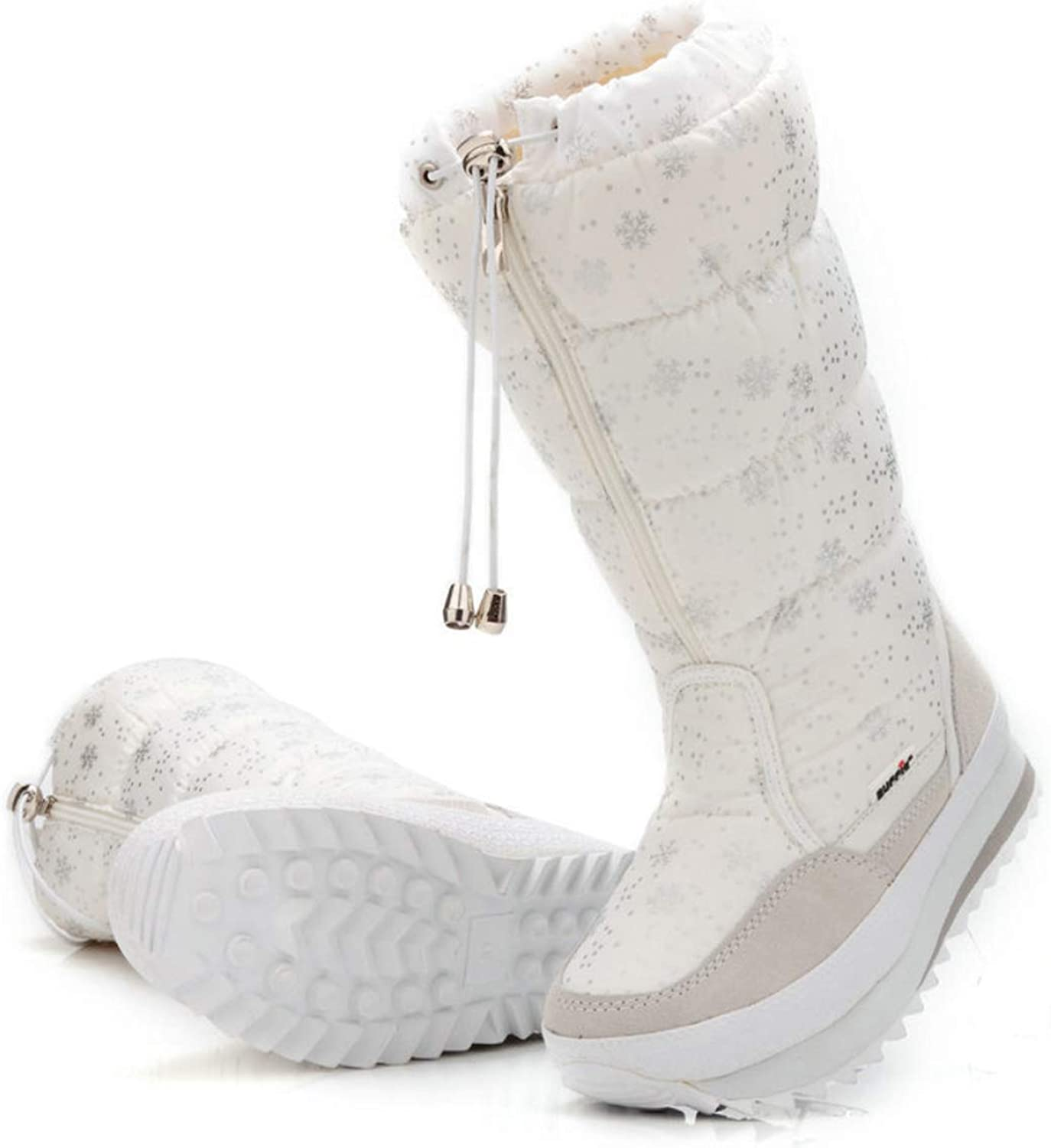 Women's Snow Boots Snowflake Pattern High Boots Super Soft Warm Snow Boots