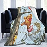 FASHIONDIY Winnie The Pooh Blanket Oversized Warm Adult Super Soft Blanket With Soft Anti-pilling Flannel For Adults & Kids 3D Print 60'x50'