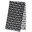 Michael Kors Womens MK Logo Metalic Scarf Dazzling Knit, Black/Silver/Grey