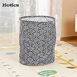 DJLHN Nueva Cesta de lavandería Plegable Papelera de Almacenamiento Redonda Cesto Grande Ropa Plegable Organizador de Soporte de lavandería de Juguete - A2 35x45cm, China, MA2 35x45cm