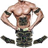 Electroestimulador Muscular, EMS Estimulador Muscular Abdominales con USB Recargable para Abdomen/Brazo/Piernas/Glúteos