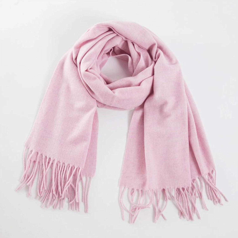 CHX Muffler Solid color Warm Lambskin Scarf Fashion Wool Scarf Big Shawl Unisex V (color   4)