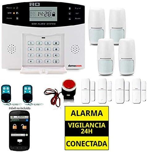 Alarma Hogar AZ017-2 gsm Castellano sin cuotas para casa. Facil instalación. Asistencia telefónica en Castellano. App...