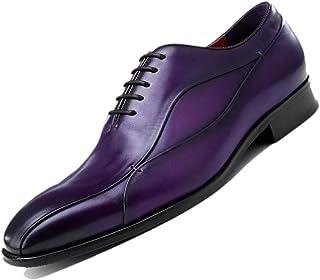 322936ae95a4 Derby Purple Pointed Gentleman Angleterre Chaussures Habillées pour Hommes  Respirant À La Main Simple Uniforme Chaussures