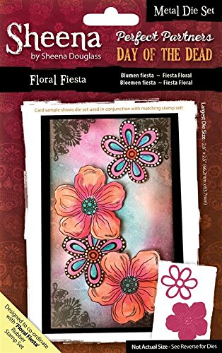 "Sheena Douglass ""Floral Fiesta Perfect Partner Metall sterben, Silber, 2-teilig"