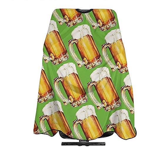Pag Crane Repita el patrón de Fondo de Vasos de Cerveza Delantal de Corte de Pelo Salón Profesional Capa Impermeable Corte de Cabello Capa Capa de champú a Prueba de champú Delantal de Corte de Pelo