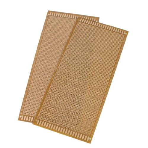 sourcingmap® Lochrasterplatine, 10x22cm, kupferfarben, 2Stück de