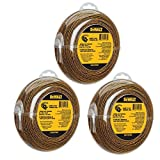 DEWALT DWO1DT802 String Trimmer Line, 225-Feet by 0.080-Inch, 3Pack (225-Feet)
