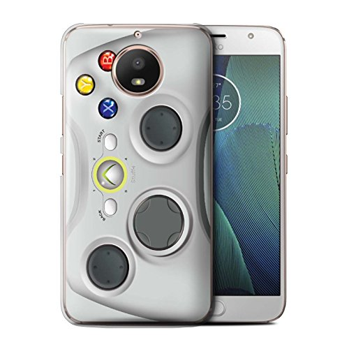 Phone Case for Motorola Moto E4 2017 Games Console White Xbox 360 Design Transparent Clear Ultra Slim Thin Hard Back Cover
