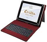E-Vitta Keytab - Funda con Teclado para Tablet de 10.1', USB, Color Rojo