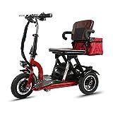 *ANAN Escúters de Mobilitat de 3 Rodes de 18 Milles / 21 Milles, Escúter Elèctric amb tracció Davantera per a discapacitats i Persones Majors,*21miles