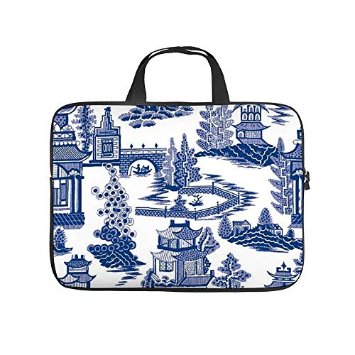 Neoprene Sleeve Laptop Handle Bag Handbag Notebook Case Cover Ming China - Blue and White Chinoiserie Portable MacBook Laptop/Ultrabooks Case Bag Cover 12 Inch