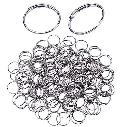 Bonayuanda 300pcs Stainless Steel Split Ring Double Loops Jump Rings Key Rings 12mm for Crystal Lamps, Crystal Curtain, Crystal Garland, Necklaces, Keys, Earrings, Jewelry Making